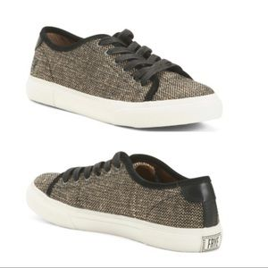 NWT Frye Gia Canvas Low Lace Sneakers